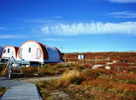 View of Tundra Ecosystem Research Station at Daring Lake, NWT (Photo:  Susan Beaumont, WRRB)