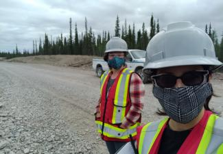 Aimee and Laura during their TASR site visit; Photo Credit: Laura Meinert