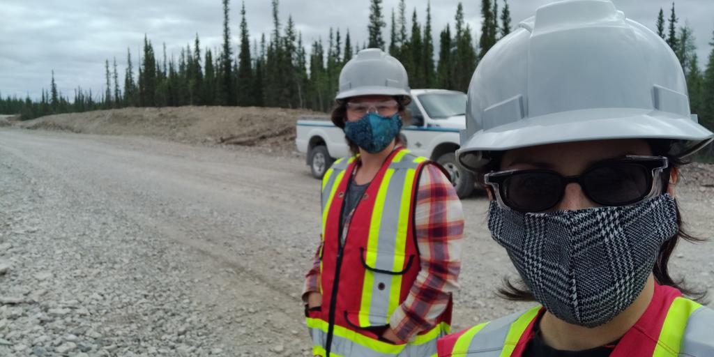 Aimee and Laura during their TASR site visit; Photo Credit: Laura Meinert